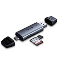 Baseus Lentil-Cabin Type-C & USB 3.0 TF/SD Card Reader (CADKQ-B0G)
