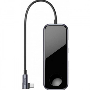 Адаптер + ЗУ для часов Baseus Mirror Series Multi-functional HUB (CAHUB-AZ0G) 2xUSB3.0, HDMI 4K, 3.5 мм, Type-C PD, Watch Wireless Charge