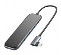 Baseus Mirror Series Multifunctional HUB, Type-C to 3xUSB3.0 + HDMI4K+Type-C PD60w (CAHUB-BZ0G) gray