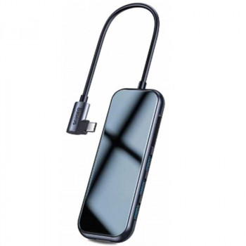 Адаптер Baseus Mirror Series Multi-functional HUB (CAHUB-CZ0G) 3xUSB3.0, HDMI 4K, Type-C PD, SD, TF