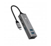 Baseus Cube HUB Adapter USB-C, 3 x USB 3.0 + 2 x USB 2.0 (CAHUB-D0G) grey