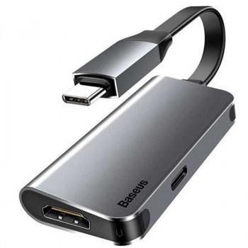 Baseus Little box smart HUB converter Type-C to HDMI + TypeC PD (CAHUB-E0G) black