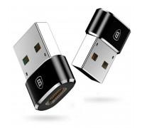 Baseus Mini Type-C female to USB male adapter, 5A (CAAOTG-01) black