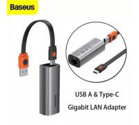 Baseus Steel Cannon Series LAN Adapter, USB & Type-C to 1GBps LAN (CAHUB-AF0G)