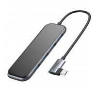 Baseus Mirror Series Multifunctional HUB, Type-C to 4 USB, 4xUSB3.0 + Type-C PD60w (CAHUB-EZ0G) gray