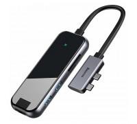Baseus Multifunctional HUB Adapter, 2Type-C to LAN+2xUSB3.0 + 2*HDMI4K+Type-C PD100w (CAHUB-FZ0G)