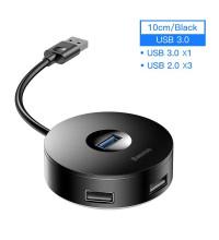 Baseus Round Box HUB Adapter Type-C to 4 USB, 1xUSB 3.0 + 3xUSB2.0 (CAHUB-G01) black