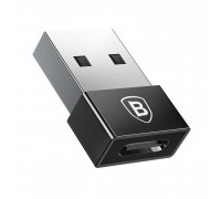 Baseus Exquisite USB Male to Type-C Female Adapter Converter, 2.4A (CATJQ-A01) black