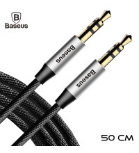 Baseus Yiven M30 Audio Cable, 0.5m (CAM30-AS1) silver