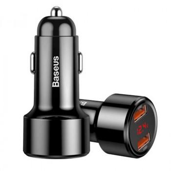 Автомобильное зарядное устройство Baseus BS-C20A Dual USB Fast Quick Charging 45W Max (CCMLC20A-01)