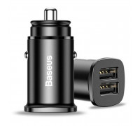 Baseus BS-C15Q Square Metal A+A 30W Dual QC3.0 Car Charger, 5A (CCALL-DS01) черный