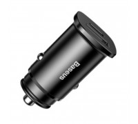 Baseus Square metal PPS Car Charger 30W, PD3.0 + USB QC4.0, model BS-C15C (CCALL-AS01) black