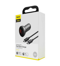 Baseus Digital Display PPS 45W, PD3.0 + USB QC4.0, VCKX45C, + C-C cable 1m 60w (TZCCBX-C0G) black