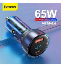 Baseus Particular Digital Display PPS 65W Type-C PD3.0 + USB QC4.0, 45w+18w, VCKX65C (CCKX-C0A) gray
