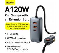 Baseus Share Together PPS Multi-port Fast Charging Car Charger, 2U + 2C 120W, (CCBT-A0G) black