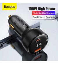 Baseus Supreme Digital Display PPS Car Charger U+C, PD100w, USB 30w, model CCZX-100C (CCZX-01) black
