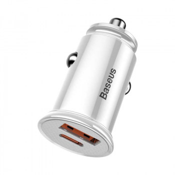 Baseus BS-C16C1 30W Type-C PD3.0 + USB QC4.0  (CCALL-YS02) white