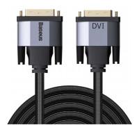 Baseus Enjoyment Series DVI male to DVI Male Bidirectional Cable, 1m, в оплетке (CAKSX-Q0G) black