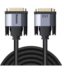 Baseus Enjoyment Series DVI male to DVI Male Bidirectional Cable, 1m, в оплетке (CAKSX-Q0G) black
