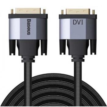 Кабель Кабель Baseus Enjoyment Series DVI Male To DVI Male bidirectional Adapter Cable 2m (CAKSX-R0G)