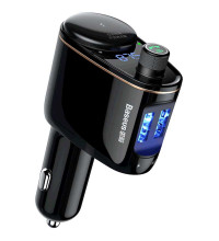 Baseus Locomotive Bluetooth MP3 Vehicle Charger with FM-Transmitter, 2 USB, 3.4A (CCALL-RH01) black