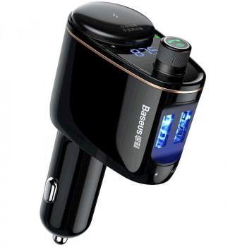 Автомобильное зарядное устройство  Baseus Locomotive Bluetooth MP3 Vehicle Charger S-06 (CCALL-RH01)