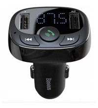 Baseus T-Typed Bluetooth MP3 Charger, 2 USB, 3.4A (CCTM-01) black
