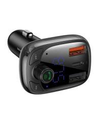 Baseus T-Typed Wireless MP3 Charger 36W, 2 USB + USB-C, QC 4.0 + PD 30w (CCTM-B01) black