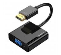 Baseus HD Converter, HDMI to VGA + AUX (f) + microUSB (f), HDA22(-1) (CAHUB-AH01) черный
