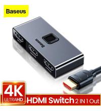 Baseus Matrix HDMI Splitter (2-in-1 or 1-in-2), 4KHD (4K@60Hz), делитель HDMI (CAHUB-BC0G) черный