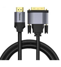 Baseus Enjoyment Series HDMI male to DVI Male Cable, 1m, в оплетке (CAKSX-F0G) black