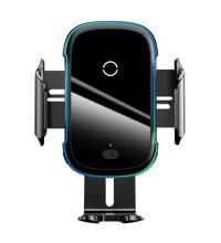 Baseus Light Electric Holder Wireless Charger, автозажим, на решетку и стекло,Qi15w(WXHW03-01) black