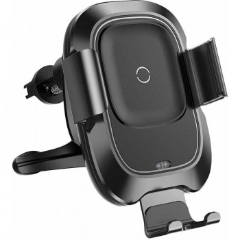 Автомобильный держатель Baseus Smart Vehicle Bracket Wireless Charger (WXZN-01) с беспроводной зарядкой 10W
