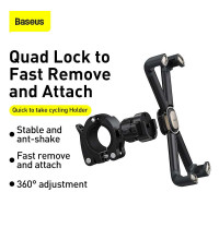 Baseus Quick to take cycling Holder (Applycable for Bicycle and Motorcycle)(SUQX-01) black