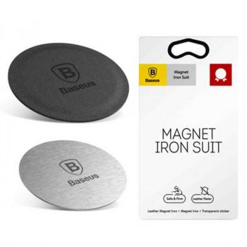 Baseus Magnet Iron Suit, пластины для магнитного держателя (ACDR-AOS) silver