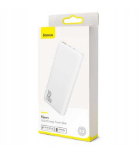 Baseus Bipow Quick Charge Power Bank 10000 mah, QC3.0 + PD 18w (PPDML-02) white