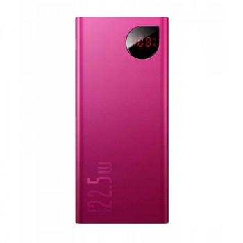 Baseus Adaman Metal 20000 mah, 22.5w SCP, 2xQC3.0, PD 18w, LED (PPIMDA-A09) pink