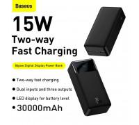 Baseus 15w Bipow Digital Display Power Bank 30000mah, PD 15W, PPBD30  (PPDML-K01) black