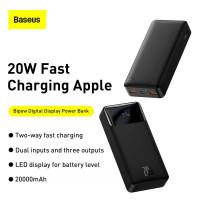 Baseus 20W Bipow Digital Display Power Bank 20000 mah, QC3.0 + PD 20w (PPDML-M01) black