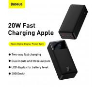 Baseus 20W Bipow Digital Display Power Bank 30000 mah, QC3.0 + PD 20w (PPDML-N01) black