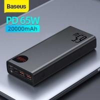 Baseus Adaman Metal 20000 mah 65w, 2xQC3.0, PD 65w, LED, model PPADM65 (PPIMDA-D01) black