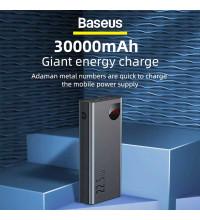 Baseus Adaman Metal 30000 mah, 22.5w SCP, 2xQC3.0, PD 20w, LED (PPIMDA-С0A) black