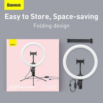 Baseus Live-Stream Holder-Table Stand 10-inch Light Ring (трипод в комплекте)26см (CRZB10-A01) black
