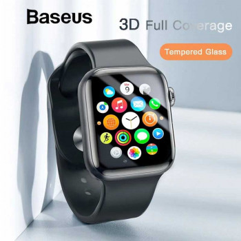 Baseus Full Coverage Curved Tempered Glass Protector for AP watch, 38mm (SGAPAPWA4-C01) black