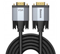 Baseus Enjoyment Series VGA male to VGA Male Cable, 2m, в оплетке (CAKSX-U0G) black