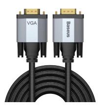Baseus Enjoyment Series VGA male to VGA Male Cable, 2m, в оплетке (CAKSX-U0G) black