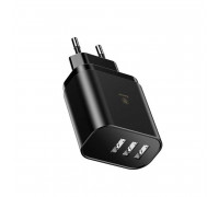Baseus 3USB 3.4A Mirror Travel Charger with digital Display (CCALL-BH01) black