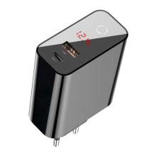 Baseus Speed PPS, LED, USB QC 3.0 + Type-C PD 45w (CCFSEU907-01) black