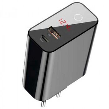 Сетевое зарядное устройство Baseus Speed PPS Quick Charger 45W Smart Shutdown + Digital Display (CCFSEU907-01, CCFSEU907-02)