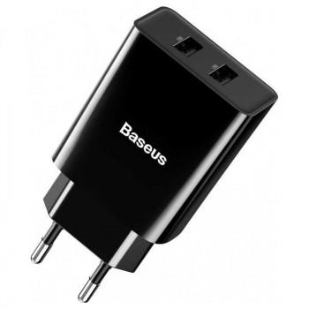 Baseus Speed Mini Dual U, 2xUSB, 2.1A, TC-012 (CCFS-R01) black